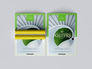 A3 Creative Brand Presentation Poster Mockup