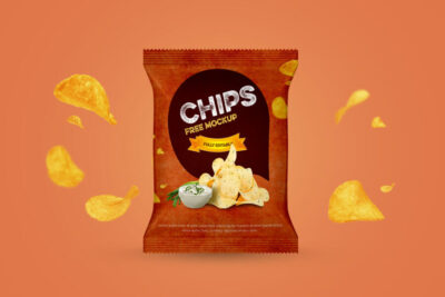 Chips Packet Free Mockup (PSD)