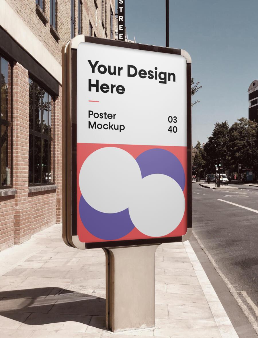 City Poster Free Mockup (PSD)