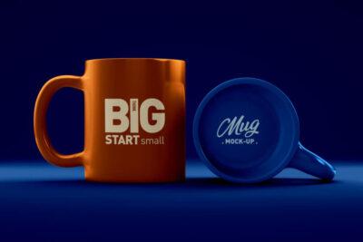 Coffee Mug Logo Free Mockup (PSD)