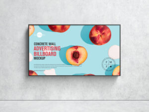 Concrete Wall Advertising Billboard Free Mockup