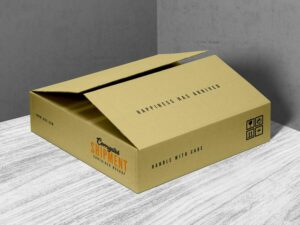 Corrugated Shipment Container Box Free Mockup