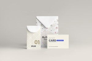 Envelope Stationery Free Mockup (PSD)