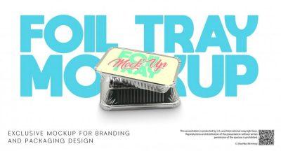 Foil Tray Free Mockup (PSD)