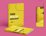 Free Book Set Mockup (PSD)