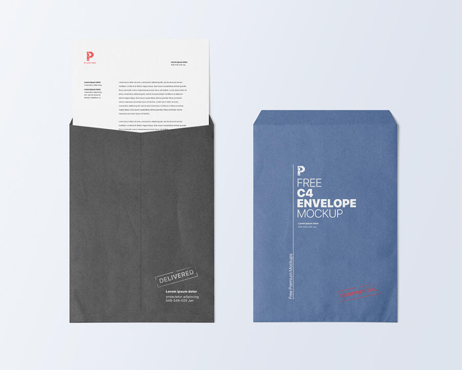 Free C4 Envelope Mockup (PSD)