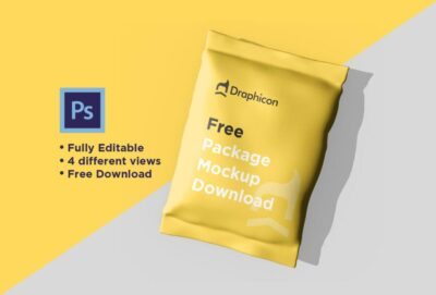 Free Chips Package Mockup