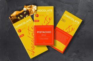 Free Chocolate Packaging Mockup (PSD)