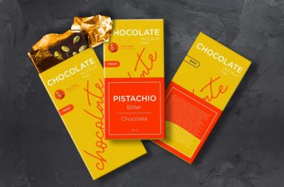 Free Chocolate Packaging Mockup (PSD)