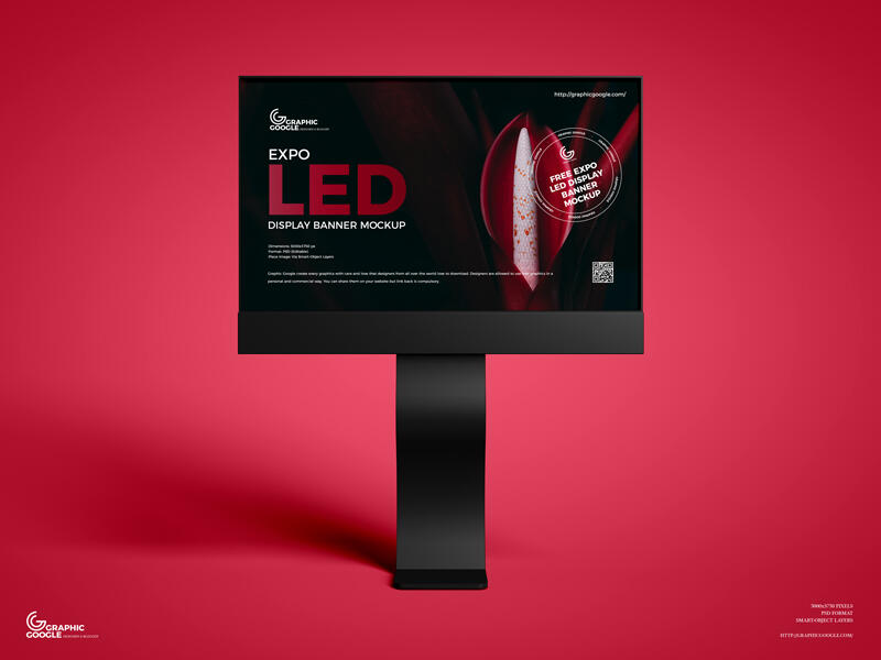 Free Expo LED Display Banner Mockup