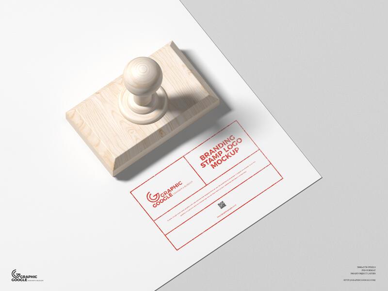 Free Logo Branding Stamp Mockup