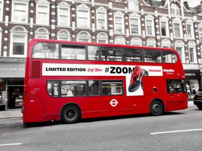 Free London Bus Vehicle Branding Mockup
