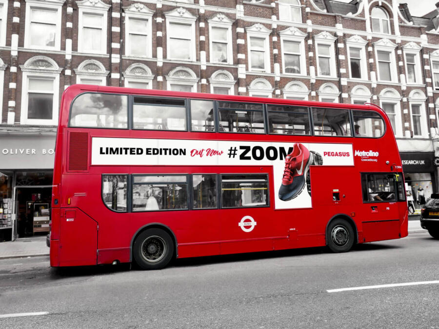 Free London Bus Vehicle Branding Mockup