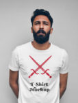Free Man Wearing T-Shirt Mockup