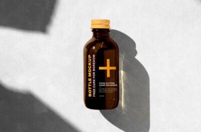 Free Medical Bottle Mockup