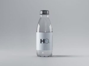 Free Mini Glass Bottle Mockup