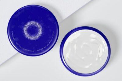 Free Plastic Opened Cosmetic Jar Mockup