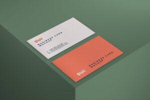 Free Simple Photorealistic Business Card Mockup