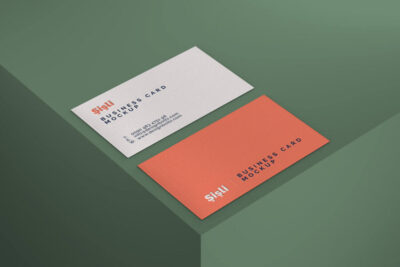 Free Simple Photorealistic Business Card Mockup
