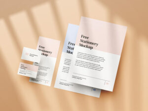 Free Simple Stationery Mockup Set