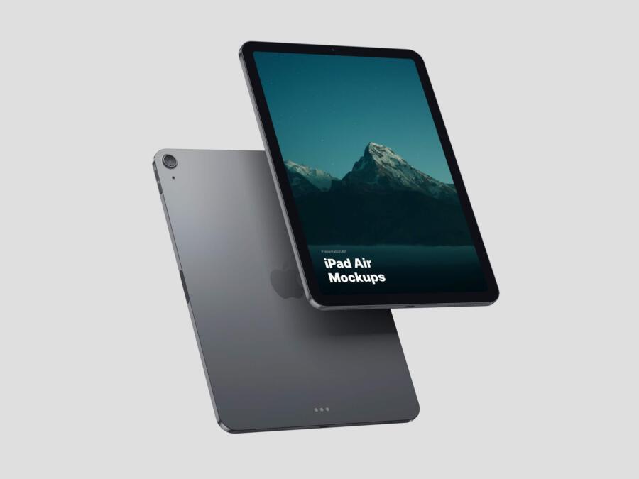 Free Space Gray iPad Air Mockups