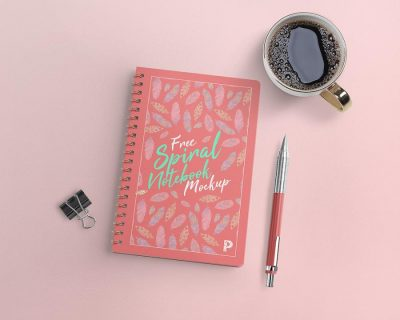 Free Spiral Notebook Mockup (PSD)