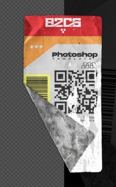 Free Sticker Mockup (PSD)