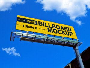 Free Street Billboard Mockup (PSD)