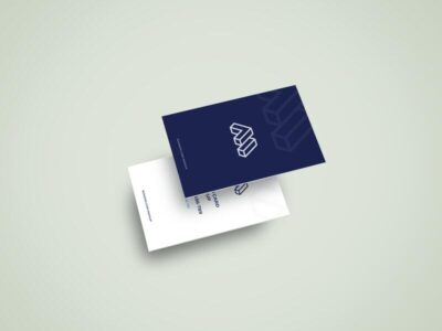 Free Two Business Cards Mockups