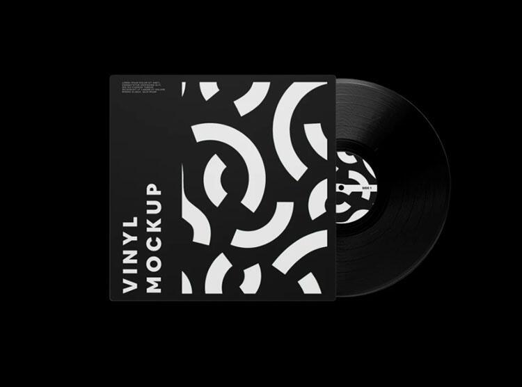 Free Vinyl Record Mockup (PSD)