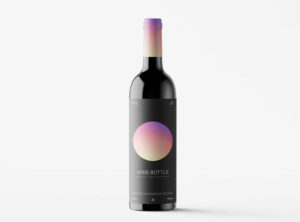 Free Wine Bottle Mockup (PSD)