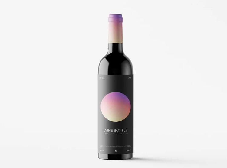 Free Wine Bottle Mockup (PSD)