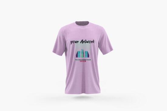 Front View T-Shirt Free Mockup