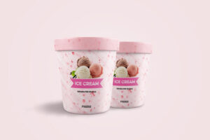 Ice Cream Jar Free Mockup (PSD)