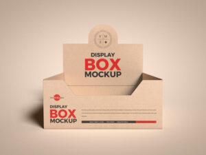 Kraft Empty Display Box Free Mockup