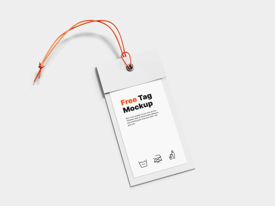 Label Tag Free Mockup (PSD)