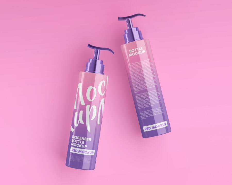 Shampoo Pump Bottle Free Mockup