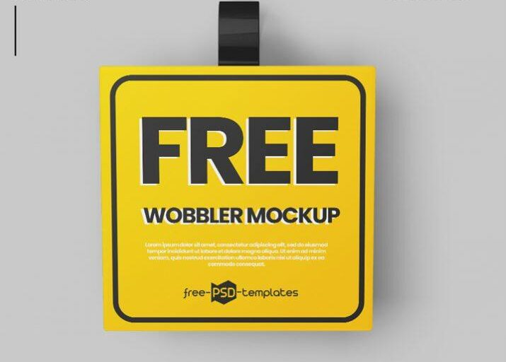 Shelf Wobbler Free Mockups (PSD)