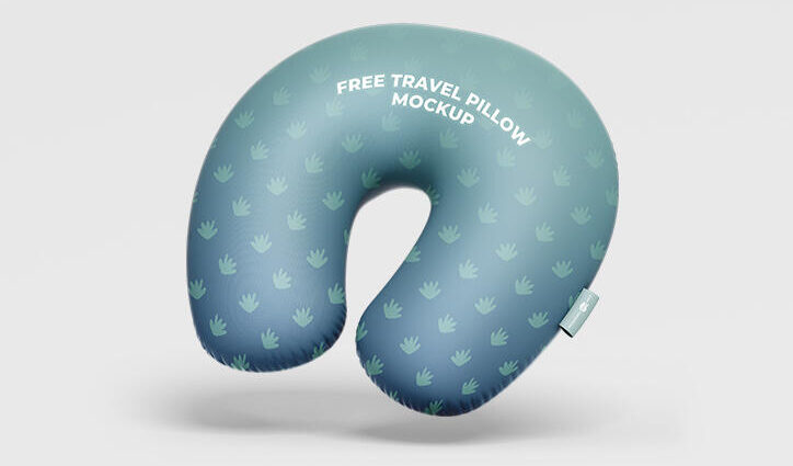 Travel Pillow Free Mockup (PSD)