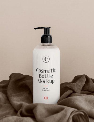 White Cosmetics Bottle Free Mockup