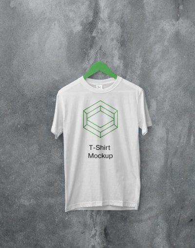 White Hanging T-Shirt Free Mockup