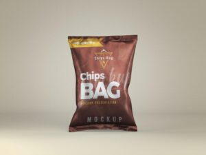Chips Bag Front View Free Mockup