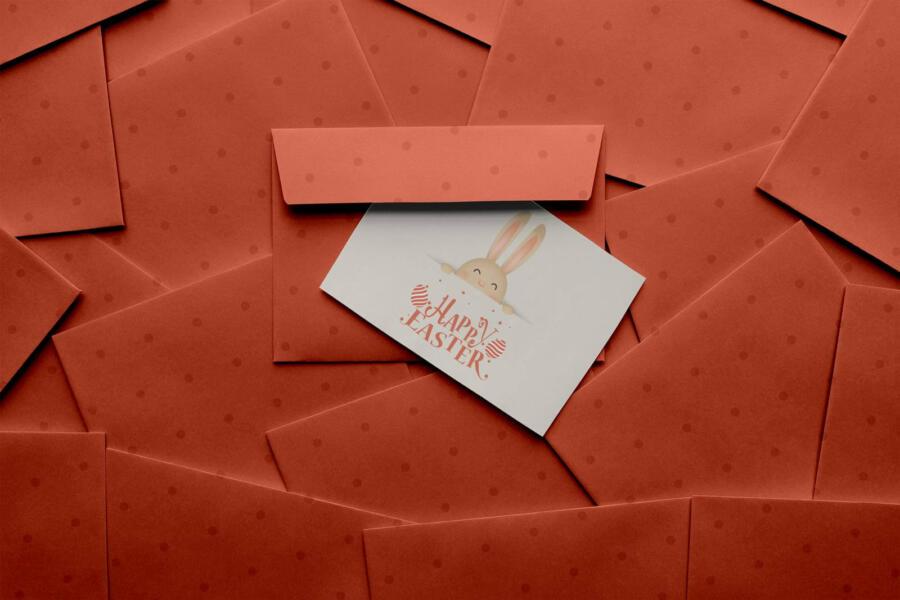 Easter 2021 Greeting Card Free Mockup