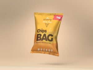 Free Chips Bag Mockup (PSD)