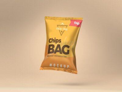 Free Chips Bag Mockup (PSD)