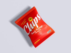 Free Chips Snack Package Mockup (PSD)