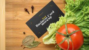 Free Food Business Card Mockup (PSD)