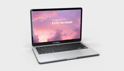 Free MacBook Pro 13 Mockup (PSD)
