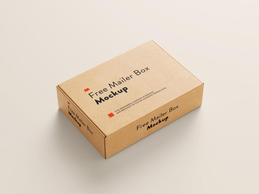 Free Mailer Box Mockup (PSD)