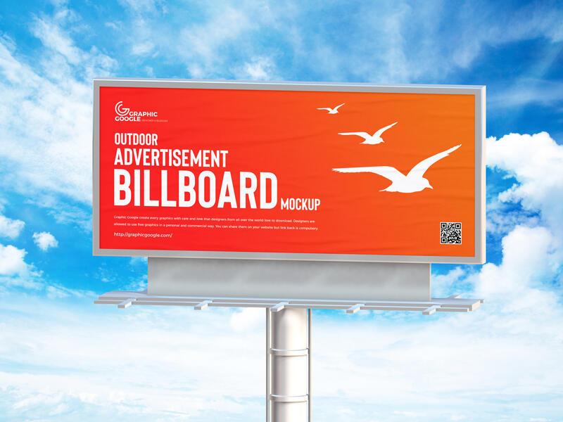 Free Outdoor Advertisement Billboard Mockup
